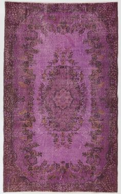 4x7 Ft   Lilac color Overdyed Vintage Rug handmade by SplendidRugs