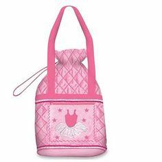 Danshuz Girls Pink Tutu Cute Quilted Cinch Dance Tote Bag