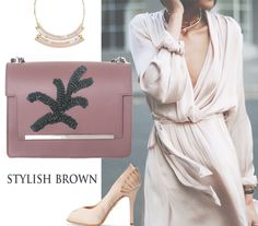 Nude silky dresses are a must have this summer as the latest trends focus on the femininity of graceful outfits. The luxury accessories you combine with these fine dresses can make you glow with a confident attitude and a sublime elegance; have a look at the new Marlene leather bags with a manual floral embroidery.
