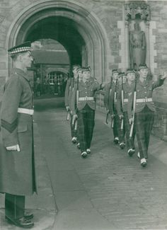 British; Gordon Highlanders Hand over Castle Duties end of 1966.