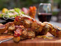 Bacon-Wrapped Pork Kebabs Recipe : Guy Fieri : Food Network - FoodNetwork.com