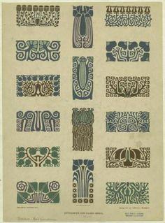 Art Nouveau stencils