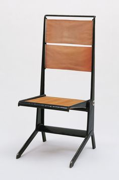 Folding Chair, Manufactured by Ateliers Jean Prouvé, Nancy, France. Designed by Jean Prouvé and Pierre Missey. 1930