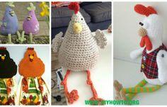 Crochet Chicken Free Patterns & Instruction [Easter Crochet & Decor]