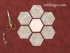 3 minute video: How to sew a Grandmother's Flower Garden lindafranz.com