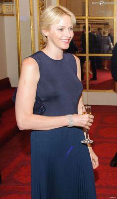 La princesse Charlene de Monaco à Buckingham Palace le 23 juillet 2012