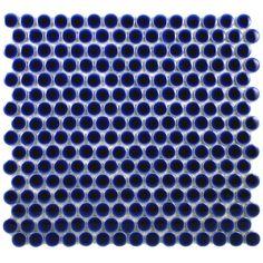 "Found it at AllModern - Penny 0.8"" x 0.8"" Porcelain Mosaic Tile in Cobalt"