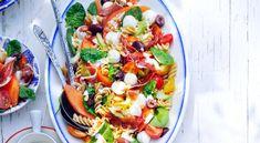 Fusilli, Bruschetta, Mozzarella, Vegetable Pizza, Cantaloupe, Vegetables, Ethnic Recipes, Food, Essen