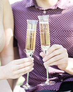 Sunday's are for champagne brunches right? Champagne Brunch, Champagne Glasses, Brunches, Custom Engraving, Flute, Cheers, Tableware, Sunday, Etsy