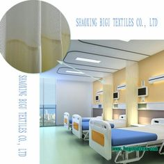 Cubicle Curtain Fabric With Permanent Flame Fire Retardant For Hospital 200 230 Gsm 280 Cm Flame Retardant Fabric Home Curtain Fabric