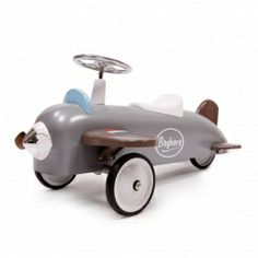 This ride on avion speedster Plane car by Baghera is just what every young aviator dreams! This toy plane has been built to last with a padded seat, sturdy metal body and rubber tyres