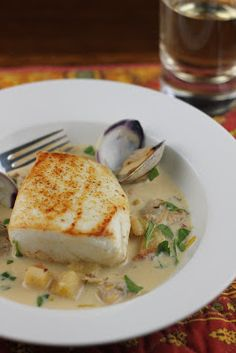 The Devil's Food Advocate: Halibut with A New England Chowder Sauce