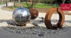 Cortenstahl Gartenbrunnen-Referenzen Diy Garden Fountains, Water Features, Designer, Outdoor Decor, Home Decor, Photos, Water Images, Wall Fountains, Fountain Garden