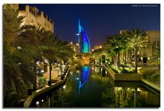 Reflections Of The Burj - Taken from Madinat Jumeirah. Digital Blending 8 exposures (5 exposures at f/6.3 for everything except the water, and 3 exposures at f/2.8 for the water). I wanted a fast shutter speed for the water to get some crisp reflections since the water was relatively calm. ♥ REPIN, LIKE, COMMENT & SHARE! ♥