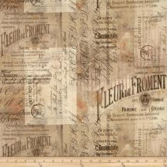 Tim Holtz Eclectic Elements Wallflower Shabby Script Multi