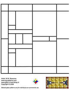 ★ Stained Glass Patterns for FREE ★ glass pattern 032 ★