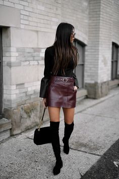 10 Skirt Fit Design Ideas That Make you Look More Beautiful Women's Fashion Many women ask what kind of skincare products they should be using and if they really need Skirt Fit. There are a lot of skincare products out there, . Winter Dress Outfits, Winter Outfits Women, Skirt Outfits, Outfits For Teens, Burgundy Outfit, Burgundy Skirt, Winter Outfit For Teen Girls, Girls In Mini Skirts, Casual Night Out