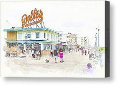Rehoboth Beach Canvas Prints - Dolles Canvas Print by Peggy Kahan