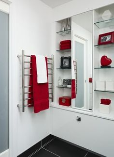 1000 images about bathroom ideas on pinterest bathroom for Black white red bathroom ideas