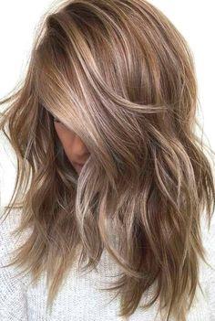 Brunette Hair Color With Highlights, Dark Blonde Hair Color, Honey Blonde Hair, Ombre Hair Color, Hair Color Balayage, Brown Hair Colors, Hair Colour, Ash Blonde, Blonde Balayage