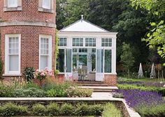 The late Victorian / early Edwardian era brought an interesting introduction of decorative flourishes, borrowing styles from a number of historical periods. The Edwardian conservatories seen here are typical examples and incorporate many such features. Edwardian Conservatory, Orangery Conservatory, Conservatory Kitchen, Conservatory Ideas, Garden Pavilion, Roof Lantern, Gazebo, Home And Garden, Garden Path