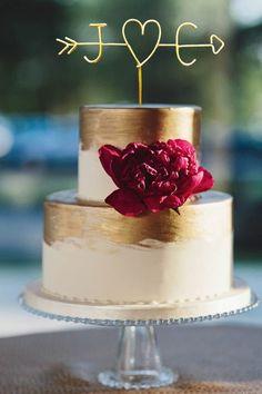 Pfeil Und Initialen Kuchen Topper Rustikale Cake Topper