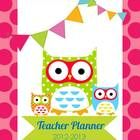 Owl and Polka Dot Teacher Planner, editable in fields, common core at-a-glance, $