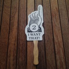 RECYCLED Hand Auction Paddle Photo Prop By SnugVoyage On Etsy 500 Ideas