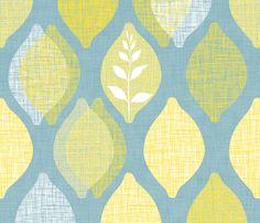 Amalfi Lemon Linen fabric by spellstone on Spoonflower - custom fabric