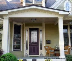 Nice gable style roof over this beautiful porch. Found on Front-Porch-Ideas-and-More.com #porch