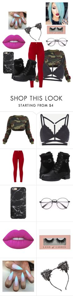 """""""camo"""" by diamondinthesky13 ❤ liked on Polyvore featuring Blondo and Lime Crime"""