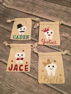 Tooth Fairy Pouch/ Personalized Tooth Fairy by CityCraftDesigns
