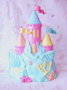 "bitmapdreams: ""Starcastle ""Under The Sea Playset"" by Trendmaster "" Childhood Memories 90s, Childhood Toys, Polly Pocket World, Kawaii Bedroom, Strawberry Shortcake Doll, 90s Toys, Dollhouse Toys, Disney Toys, Pretty Pastel"