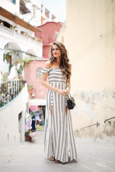"Showpo maxi dress, very similar HERE, also love this black oneValentino sandals // Chanel mini flap bag, similar but way less HERE David Yurman link bracelet, cuff bracelet // MAC lipstick in ""impassi"