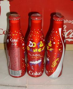 Coca Cola -  Justice and Do the Dance,  Aluminum Bottle,  France 2009
