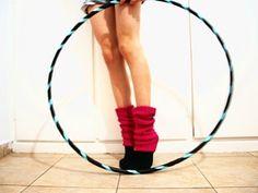 Basic hoop. Dressed up feet.