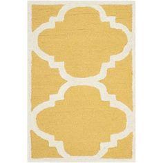Varick Gallery Martins Gold/Ivory Area Rug Rug Size: 6' x 9'