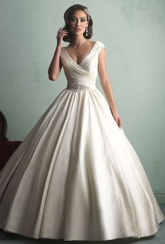Sophisticated Wedding Ball-Gowns For Older Brides. #weddings #dresses #weddinggowns