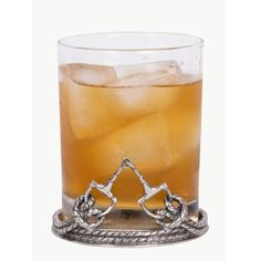 Equestrian Bit Double Old Fashion Glass