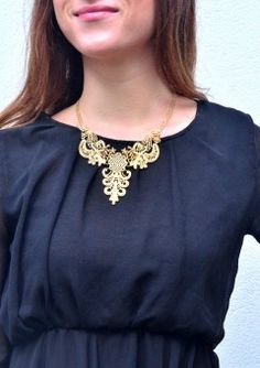 Lace Inspired Statement Necklace 14,90 € #happinessbtq