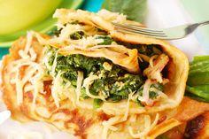 Wunderbar lecker leichte Spinatpfannkuchen