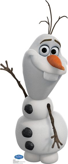Disney Frozen Olaf Standup Includes: (1) Disney Frozen Olaf cardboard standup. Measures 6'H. Adult assembly required. Standard Ground shipping only. Street address required for delivery. No APO, FPO o