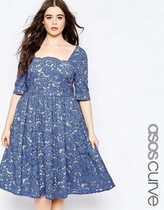 ASOS Curve | ASOS CURVE WEDDING Prom Dress In Lace at ASOS