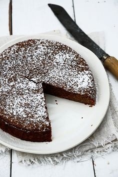 whole orange chocOlate almond cake with orange cinnamon cream