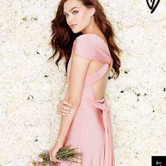 Lulu'S Multi Wrap Dress Blush Pink