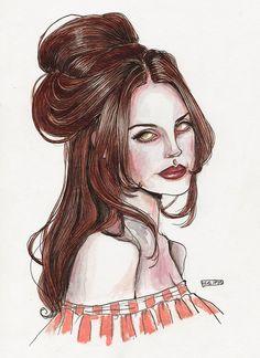 ♡♡♡ Lana Del Rey #LDR #art by Lucas David
