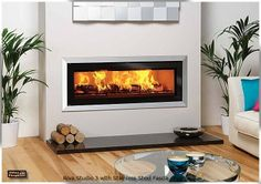The Stovax Studio Bauhaus is a wood burning inset fire with a classic three dimensional tapered frame. Salons Zen, Chair Design, Furniture Design, Plywood Furniture, Modern Furniture, Inset Fireplace, Fireplace Ideas, Zen Living Rooms, Dining Rooms