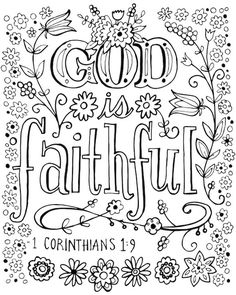Bible Verse Coloring Page, Love Coloring Pages, Free Adult Coloring Pages, Coloring Books, Coloring Canvas, Coloring Pages For Teenagers, Bible For Kids, Affirmations, Canvas Canvas