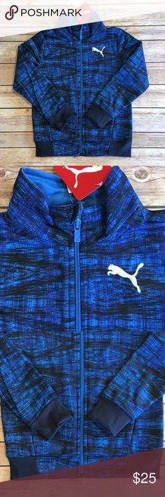 Puma Jacket Toddler Boys 4T Set Black Blue track Puma Track jacket  Toddler Boys 4T  Black Blue White  New with tags Puma Shirts & Tops Sweatshirts & Hoodies