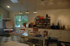 My working fused glass studio